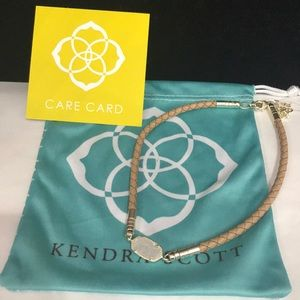 Kendra Scott Cooper choker necklace. Druzy stone.